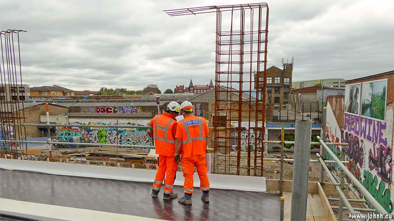 rebuilding of Hackney Wick station