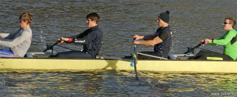 Oxford rowing squad at Hammersmith Reach