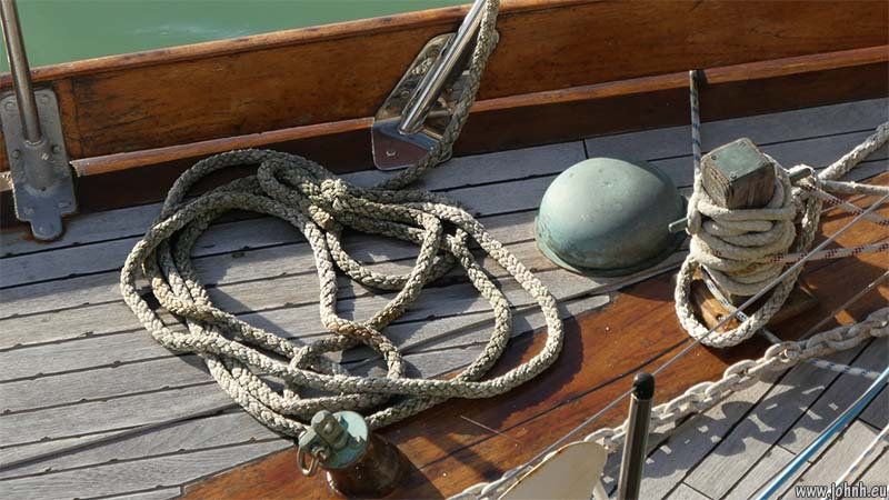 rope on a deck in Brigton Marina