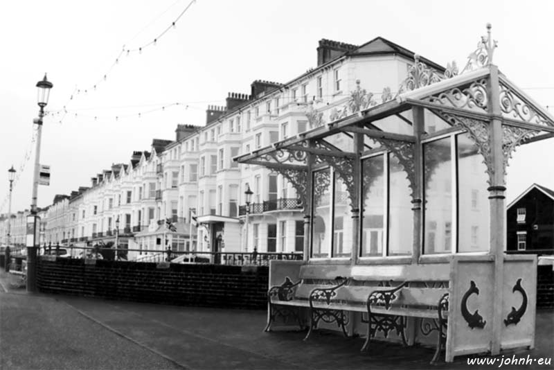 Eastbourne Sea Front sheltered bench