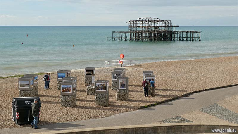 West pier and beach photo exhbition - Brighton Photo Biennial 2018