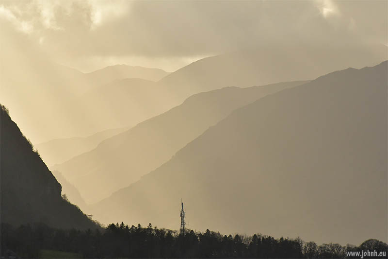 Borrowdale from the lower slopes of Blencathra