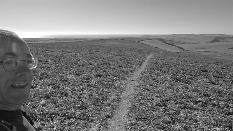 Panorama above Bishopstone, Sussex South Downs