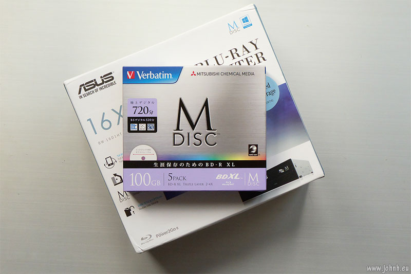100GB M-disc media and writer