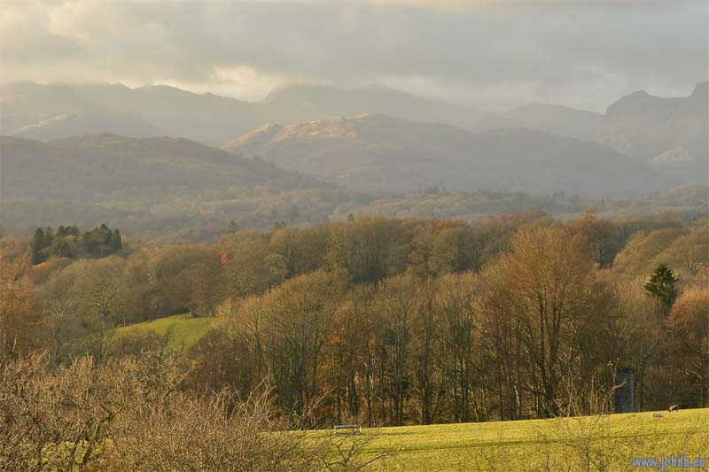 South Lakeland view, Cumbria, the Lake District