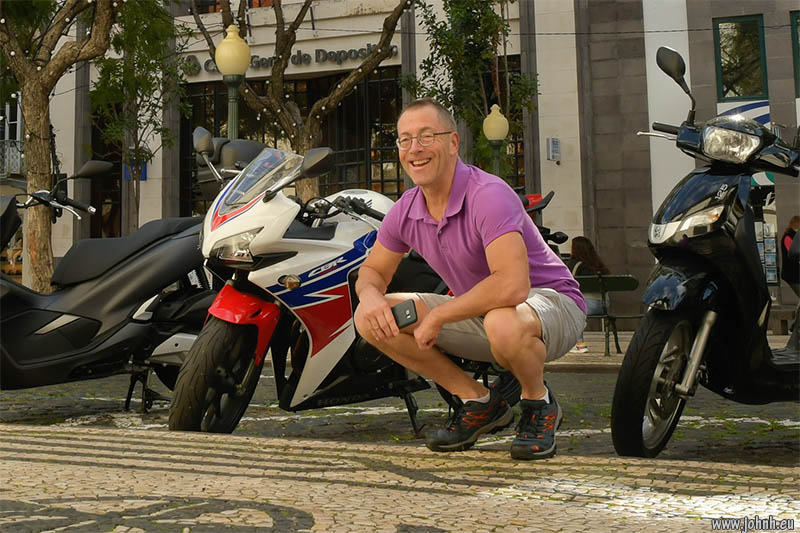 With a CBR600RR in Funchal, Madeira