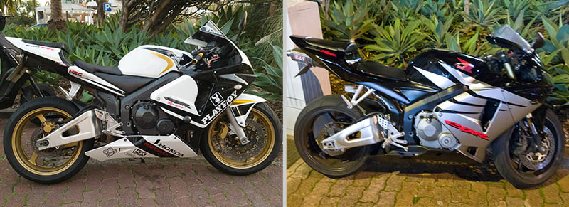 Two CBR600RR in Funchal-Lido, Madeira