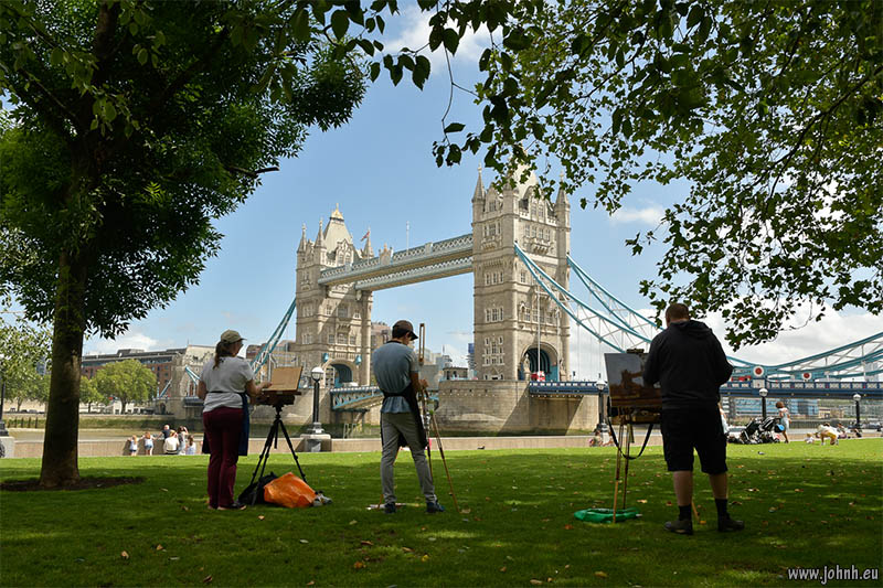 Painters at Tower Bridge, London
