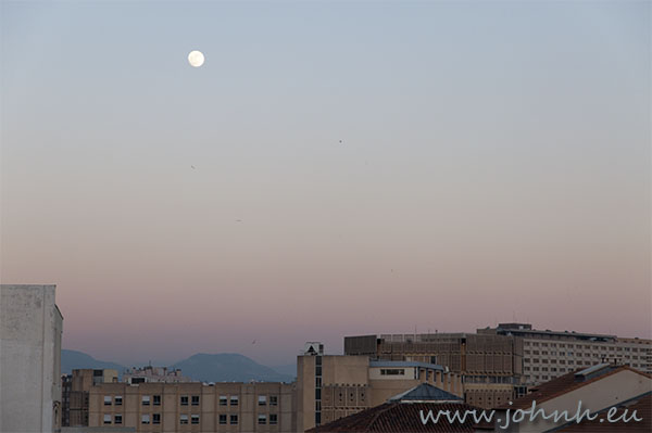 My photo of a winter Moonrise over Marseille Provence